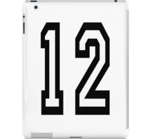 12, TEAM SPORTS, NUMBER 12, TWELVE, TWELFTH, Competition iPad Case/Skin