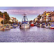 Grado - The Harbour Photographic Print