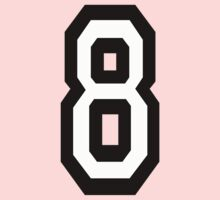 8, TEAM SPORTS, NUMBER 8, EIGHT, eighth, competition Kids Clothes