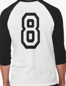 8, EIGHT, TEAM SPORTS, NUMBER 8, eighth, competition Men's Baseball ¾ T-Shirt