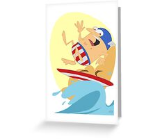 Surfing Captain Greeting Card