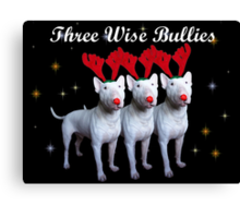 Three Wise Bullies Canvas Print