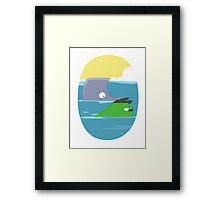 Ocean Hulk Framed Print