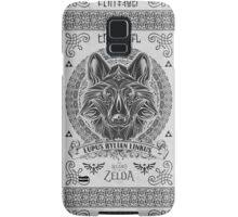 Legend of Zelda Twilight Princess Wolf Link Line Artly  Samsung Galaxy Case/Skin