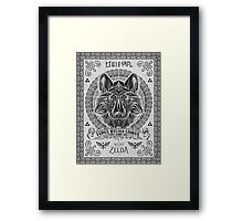 Legend of Zelda Twilight Princess Wolf Link Line Artly  Framed Print