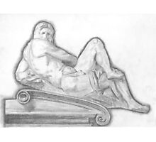 Sketch of Michelangelo's 'Day' Sculpture Photographic Print