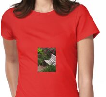 Meet Me In The Rose Garden Womens Fitted T-Shirt