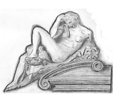 Sketch of Michelangelo's 'Night' Sculpture Photographic Print
