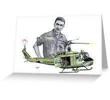 """Vietnam Warrior"" Greeting Card"