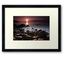 Sunrise at Motion Bay Framed Print