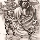 Bodhidharma by Alleycatsgarden