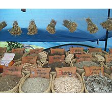 Herb market Photographic Print