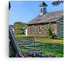 Tohickon School House Canvas Print