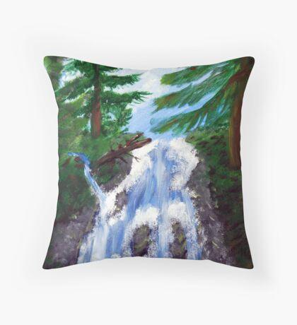 Dreamy Waterfall Throw Pillow