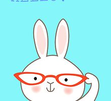 Bespecticaled Bunny by zoel