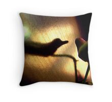 halcyon bird Throw Pillow