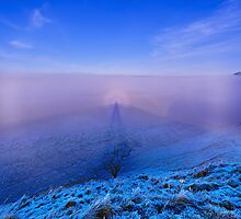 Brocken Spectre viewed from Peel Crags Northumberland by Chris McIlreavy