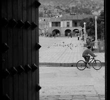 Patio with Vista de la Plaza by Alessandro Pinto