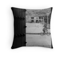 Patio with Vista de la Plaza Throw Pillow