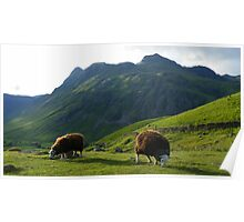 The Lake District: Lawn Mowers at Work Poster