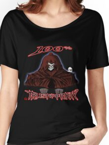 GRIM REAPER AND SIDE KICK/ 100% TRUSTWORTHY Women's Relaxed Fit T-Shirt