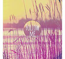 """Follow Me."" Sunny Summer Wheat Field Photographic Print"
