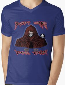 GRIM REAPER AND SIDE KICK/ BABY SITTER FOR HIRE Mens V-Neck T-Shirt