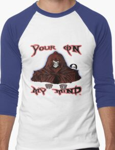 GRIM REAPER AND SIDE KICK/ YOUR ON MY MIND Men's Baseball ¾ T-Shirt