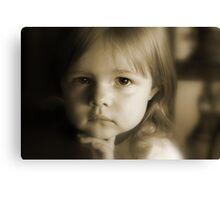 Little Girl Feeling Sad Canvas Print