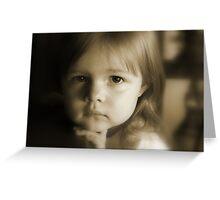 Little Girl Feeling Sad Greeting Card