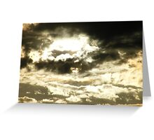 Golden sunset with a chance of sprinkles..... Greeting Card