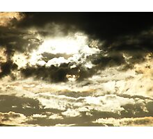 Golden sunset with a chance of sprinkles..... Photographic Print