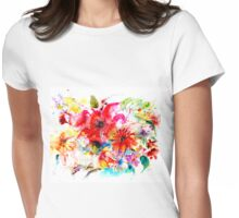 """ Watercolor garden II "" Womens Fitted T-Shirt"