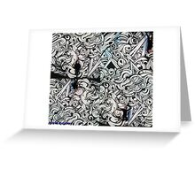 abstract graffiti Greeting Card