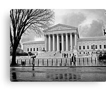 Justice is Black and White Canvas Print