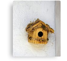 Wooden Birdhouse Canvas Print