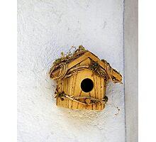 Wooden Birdhouse Photographic Print