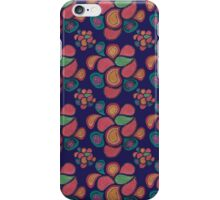 Paint Drops - Colorful Swirl Purple iPhone Case/Skin
