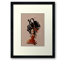Girl 10 | Wild Hair Framed Print