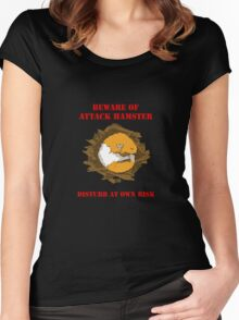 Attack Hamster Women's Fitted Scoop T-Shirt