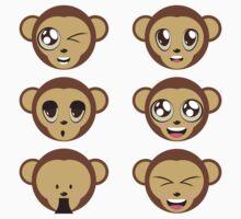 Monkey Heads Kids Clothes