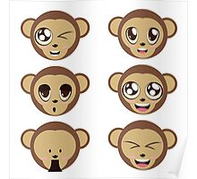 Monkey Heads Poster