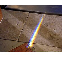 Rainbow on the floor Photographic Print