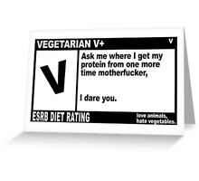 Pulp Fiction Vegetarian Greeting Card