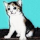 Retro Kitty by colleen e scott