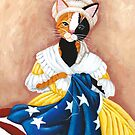 Kitty Ross Sewing the American Flag by Ryan Conners