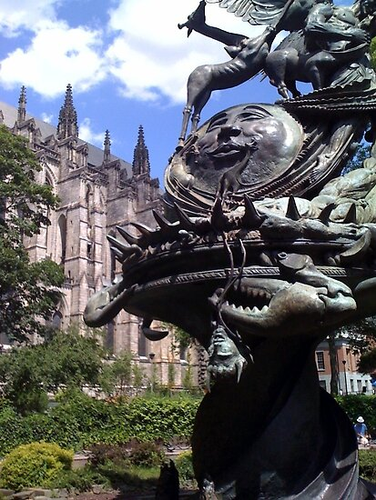 Cathedral of St. John the Divine & Garden Statue - New York City by SylviaS