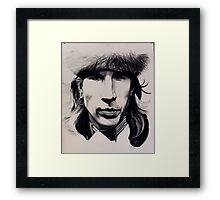 Self-portrait in pow wow outfit Framed Print