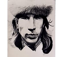 Self-portrait in pow wow outfit Photographic Print