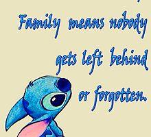 Lilo & Stitch - Ohana Family Quote (2) by TylerMellark